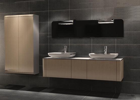 现代洗手台卫浴柜架3D模型【ID:97190141】