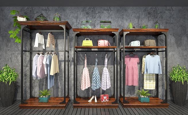工业风衣服衣架3D模型【ID:97191021】