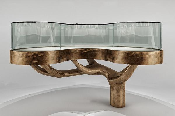 现代金属玻璃展柜3D模型【ID:97191129】