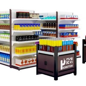 现代超市促销台商品货架3D模型【ID:97192221】