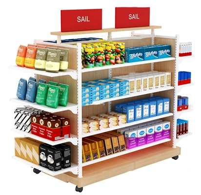 现代零食超市商展货架3D模型【ID:97199623】