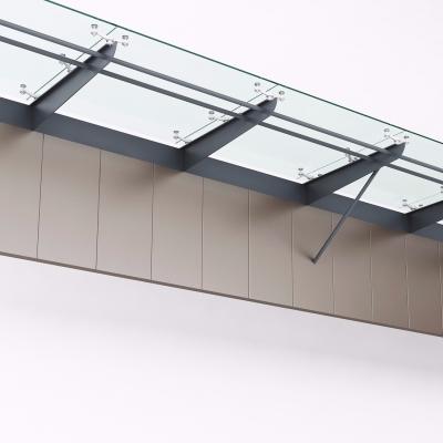 现代玻璃雨棚3D模型【ID:228424752】