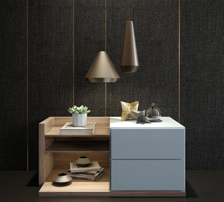 北欧实木床头柜摆件组合3D模型【ID:97201464】