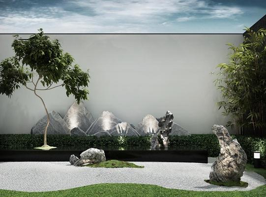 现代花园3d模型【ID:97201690】