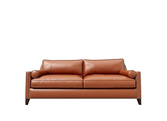 现代皮革双人沙发3d模型【ID:97202974】