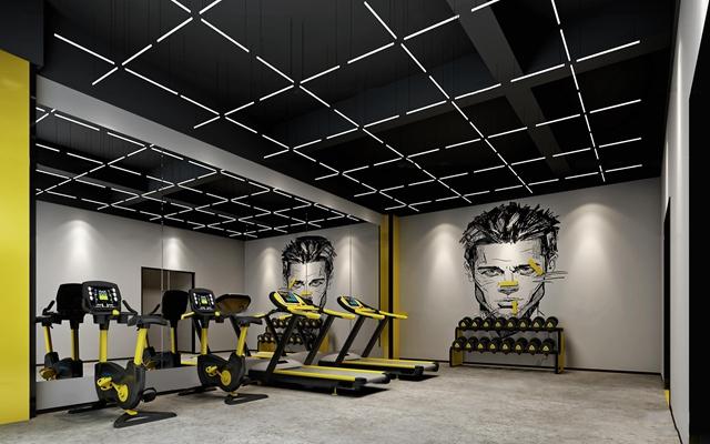 现代健身房3D模型【ID:97203333】