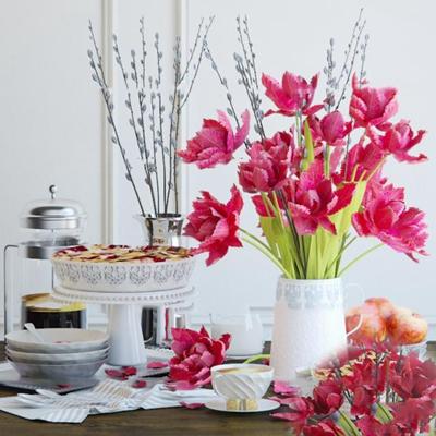 现代花瓶插花餐具组合3D模型【ID:97205735】