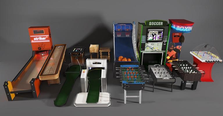 现代游戏机组合3d模型【ID:97210157】