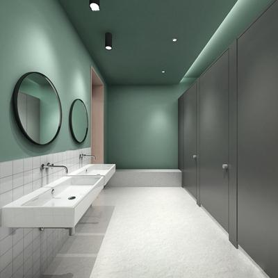 现代公用卫生间3D模型【ID:97212389】