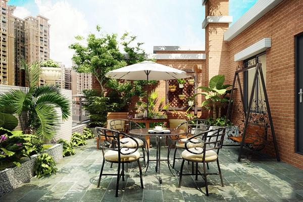 现代花园阳台3d模型【ID:97212797】