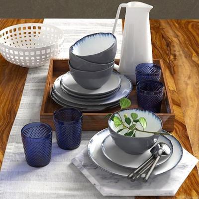 现代陶瓷碗碟水杯组合3D模型【ID:97215236】