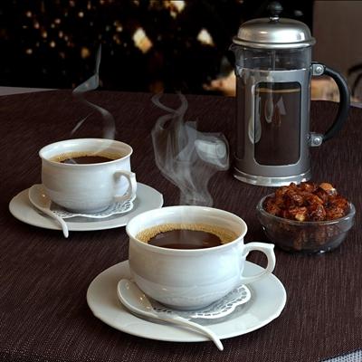 现代咖啡茶杯方糖咖啡壶组合3D模型【ID:97224338】