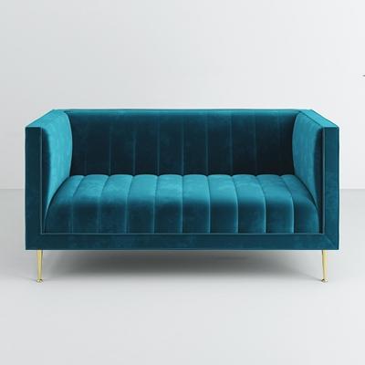 现代布艺双人沙发3D模型【ID:97224775】