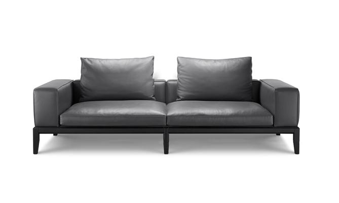 现代皮革双人沙发3D模型【ID:97237976】