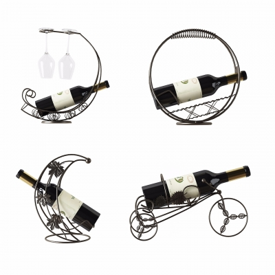 现代铁艺红酒架红酒3D模型【ID:228424569】