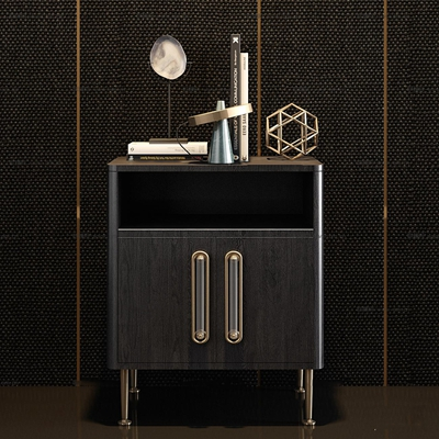 现代实木床头柜饰品组合3D模型【ID:97243061】