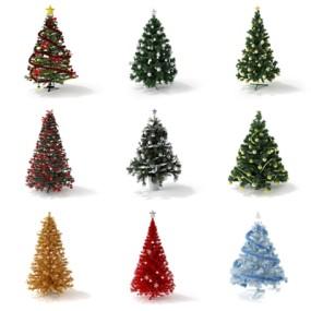 现代圣诞树3D模型【ID:97246916】