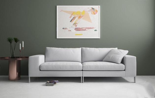 現代雙人沙發3D模型【ID:928338776】