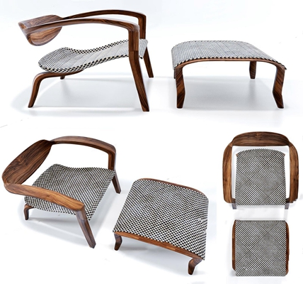 北欧休闲躺椅3D模型【ID:227887614】