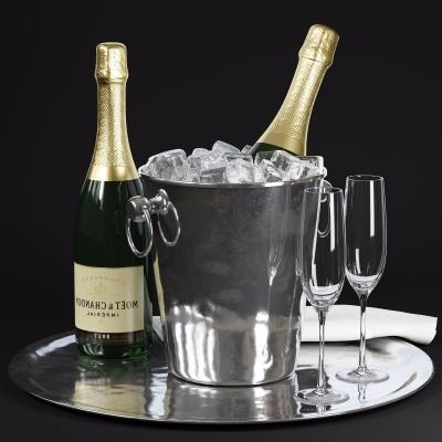 现代香槟冰桶冰块3D模型【ID:228423599】