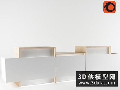 接待前台国外3D模型【ID:229403319】