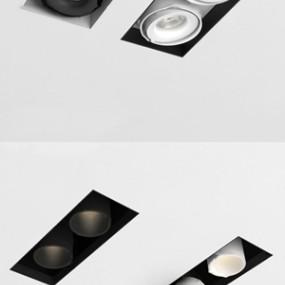 现代射灯筒灯3d模型【ID:847040381】