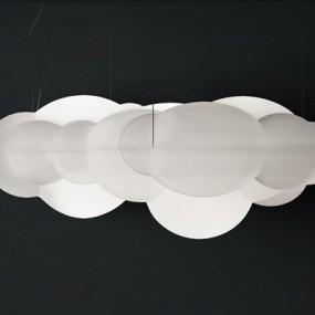 现代云朵玻璃吊灯3D模型【ID:528007884】