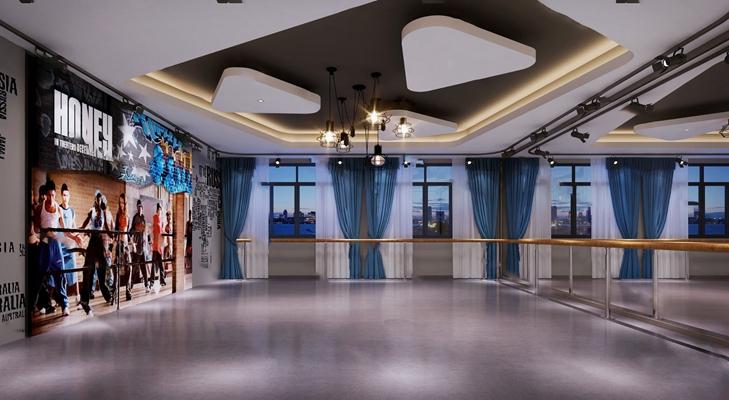 现代舞蹈室3D模型