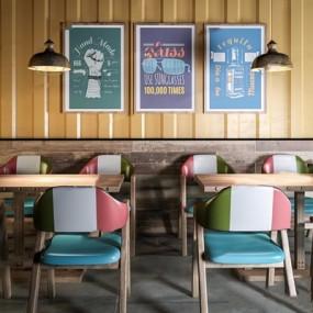 工业风餐桌椅3d模型【ID:328245621】