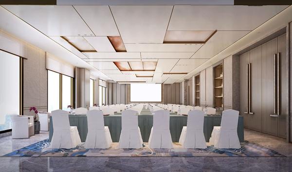 新中式大會議室3D模型【ID:947179167】