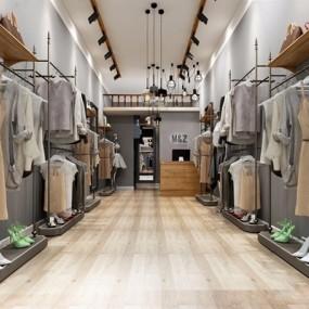 北欧服装店3D模型【ID:528040494】