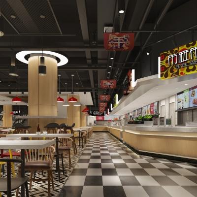 現代美食城3D模型【ID:327794907】