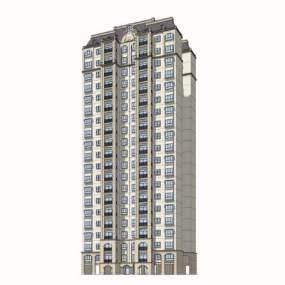法式高层住宅SU模型【ID:245616740】