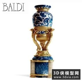欧式花瓶国外3D模型【ID:929306890】