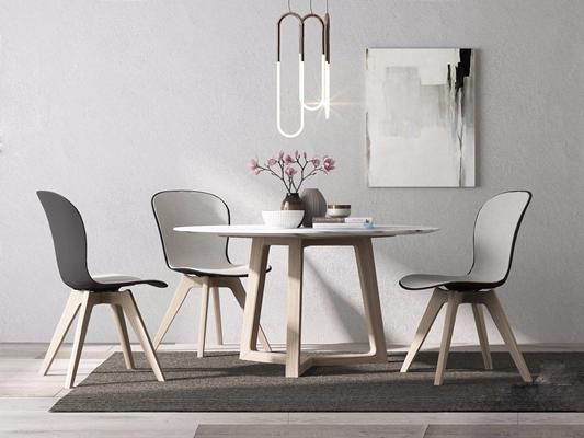 北歐桌椅3D模型【ID:327920622】