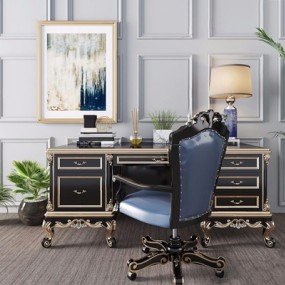 欧式桌椅组合3D模型【ID:328245770】