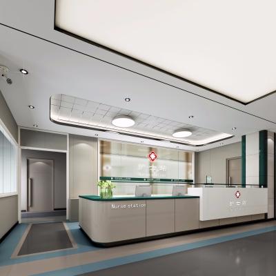現代醫院護士站3D模型【ID:927839632】