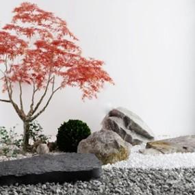 日式庭院景觀小品3d模型【ID:150471473】