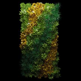 现代植物背景墙3D模型【ID:127752101】