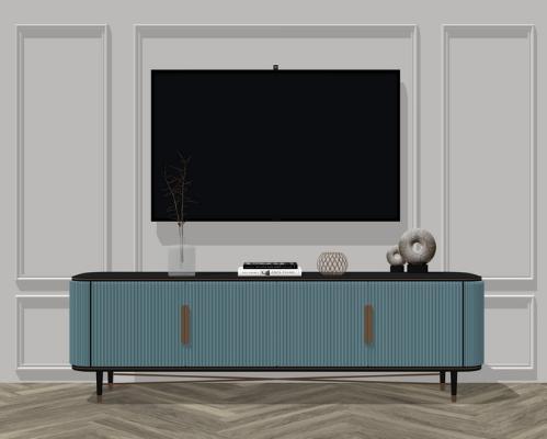 現代電視柜SU模型【ID:246381138】