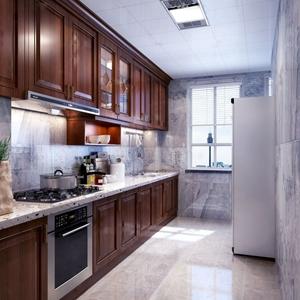 現代廚房櫥柜3D模型【ID:131394495】