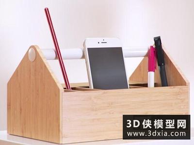 文具收纳盒组合国外3D模型【ID:929391011】