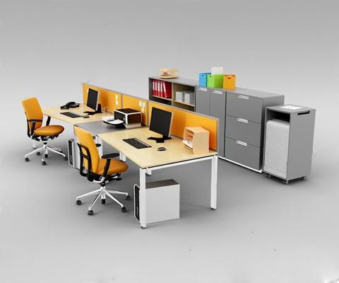 办公桌椅3D模型【ID:227883901】