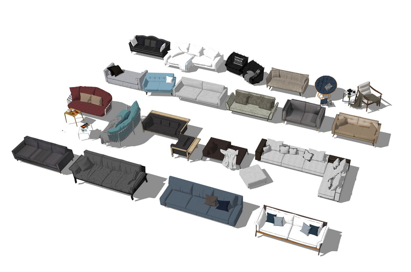 沙发组合SU模型【ID:736620660】