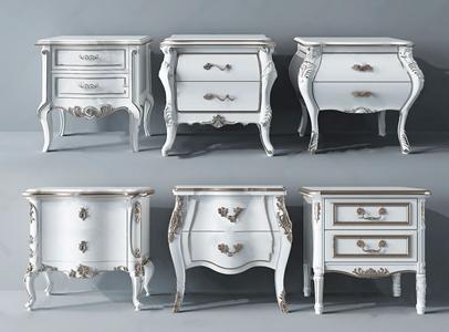欧式床头柜3D模型【ID:928355661】