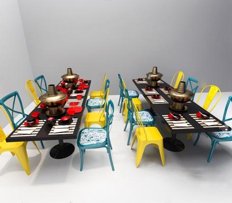 餐桌椅组合3D模型【ID:120022844】
