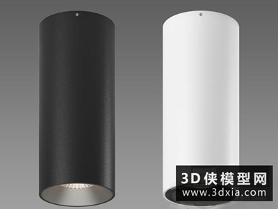 明裝筒燈國外3D模型【ID:929359139】