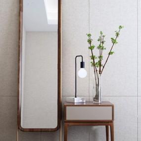 现代床头柜梳妆镜组合3D模型【ID:928332638】
