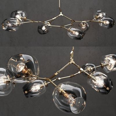 现代吊灯3D模型【ID:224883853】