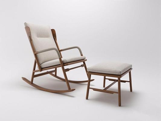 现代新中式躺椅3D模型【ID:227888672】